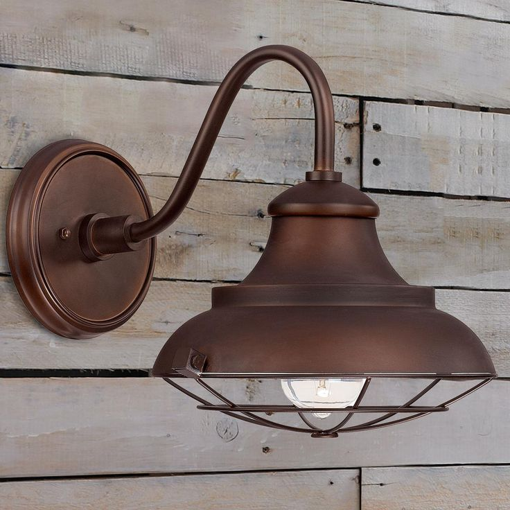 Image of: Brown Farmhouse Wall Sconces