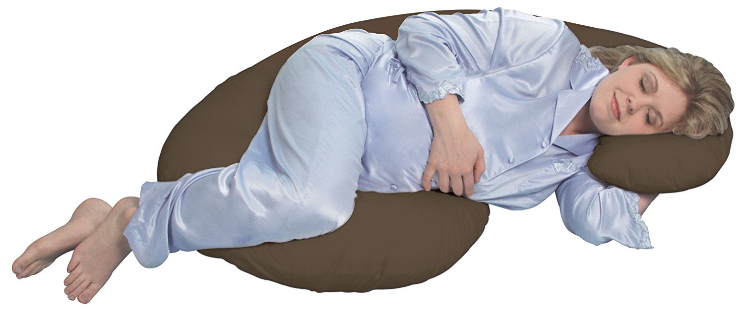 Image of: Brown Maternity Body Pillow