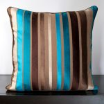 Brown and Turquoise Pillows