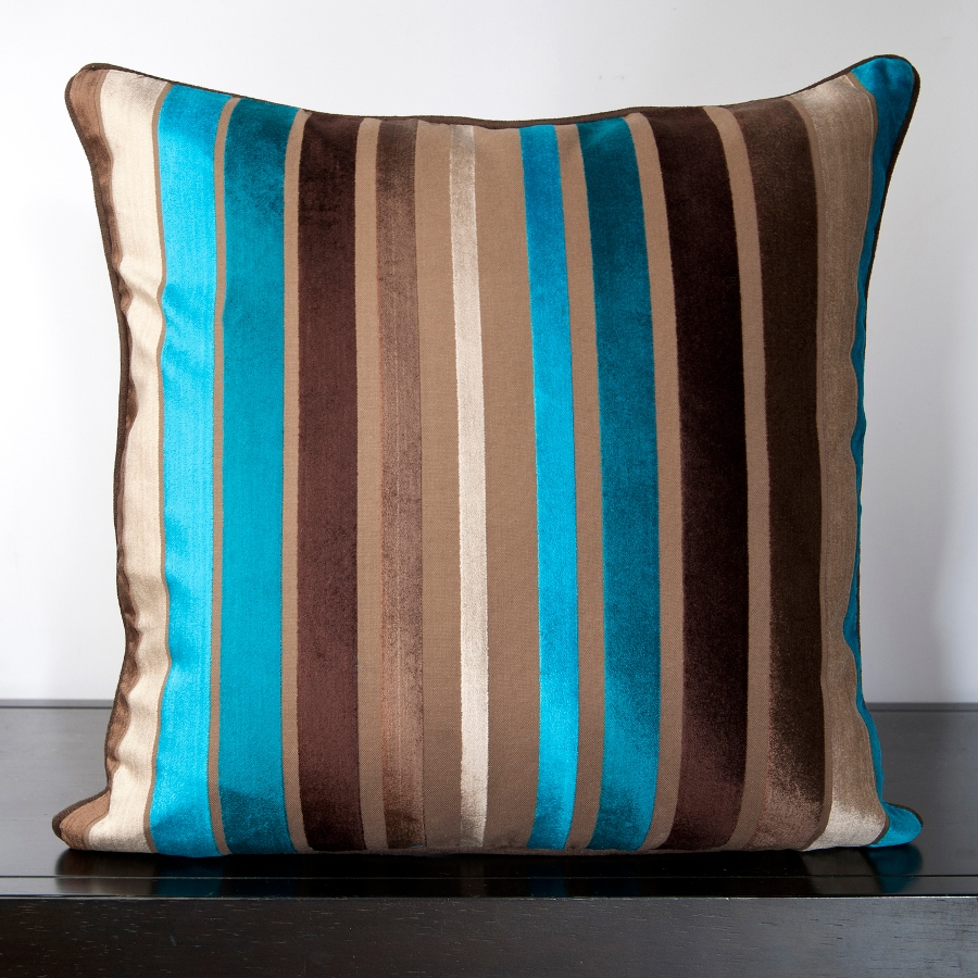 Image of: Brown and Turquoise Pillows