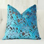 Brown and Turquoise Throw Pillows