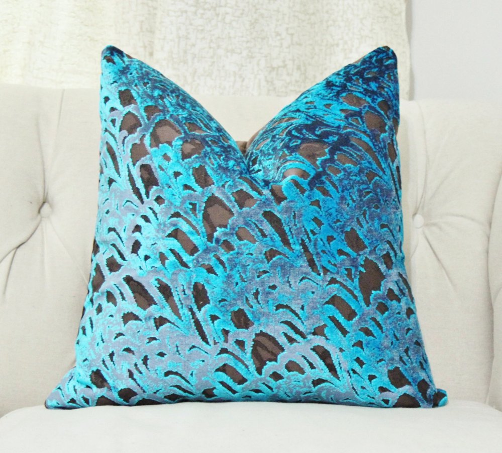 Image of: Brown and Turquoise Throw Pillows