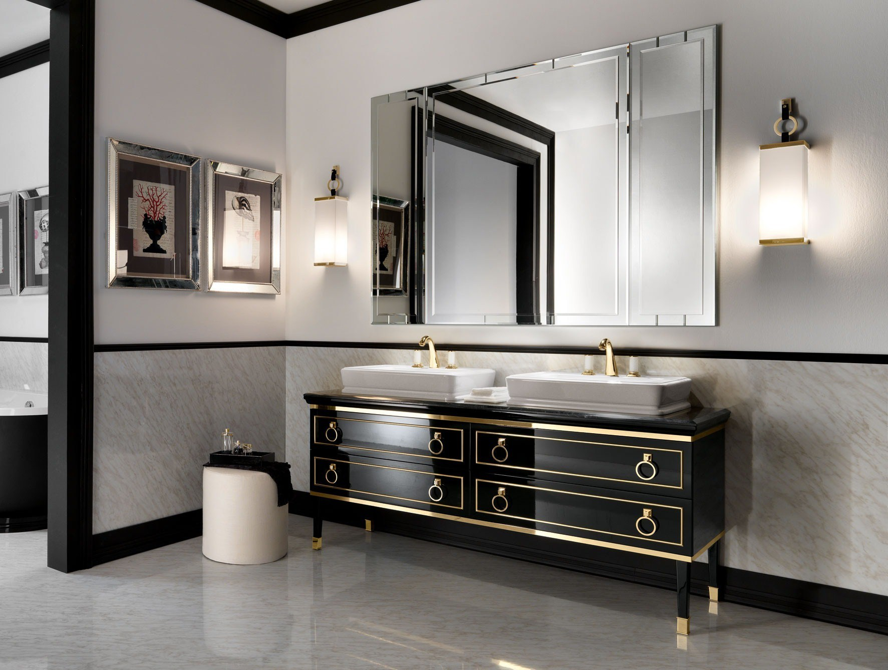 Image of: Brushed Nickel Bathroom Sconces Antique Nickel