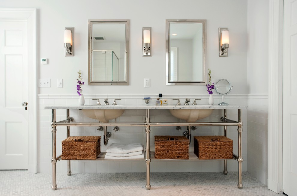 Image of: Brushed Nickel Bathroom Sconces Oil Rubbed Bronze