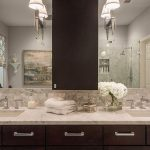 Brushed Nickel Bathroom Sconces and Ceiling Light Sets