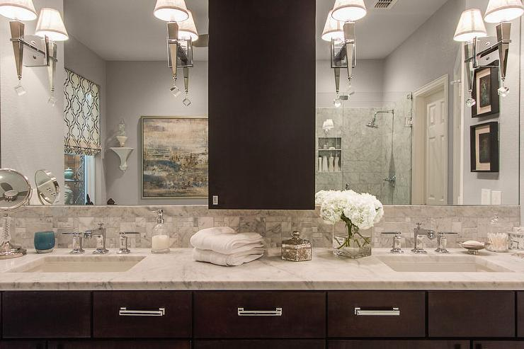 Image of: Brushed Nickel Bathroom Sconces and Ceiling Light Sets