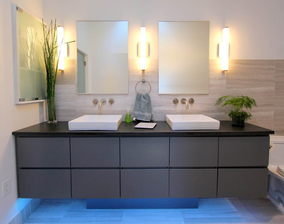 Image of: Brushed Nickel Bathroom Sconces with Shades