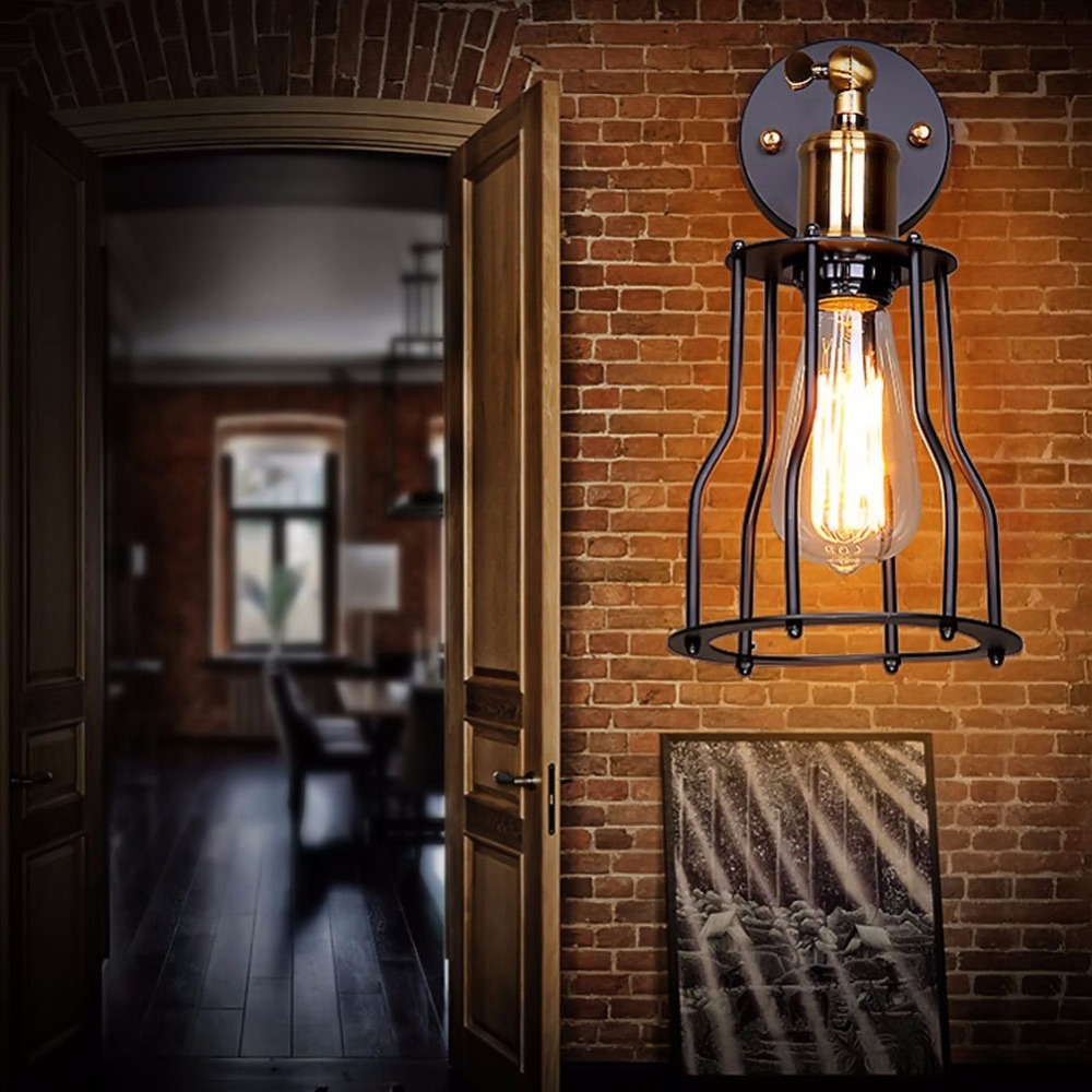 Image of: Cage Wall Sconce Designs