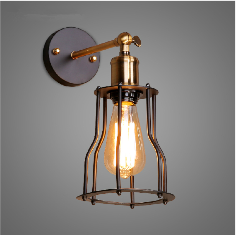 Image of: Cage Wall Sconce Modern