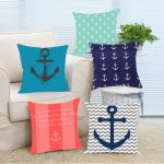 Calm Navy Throw Pillows