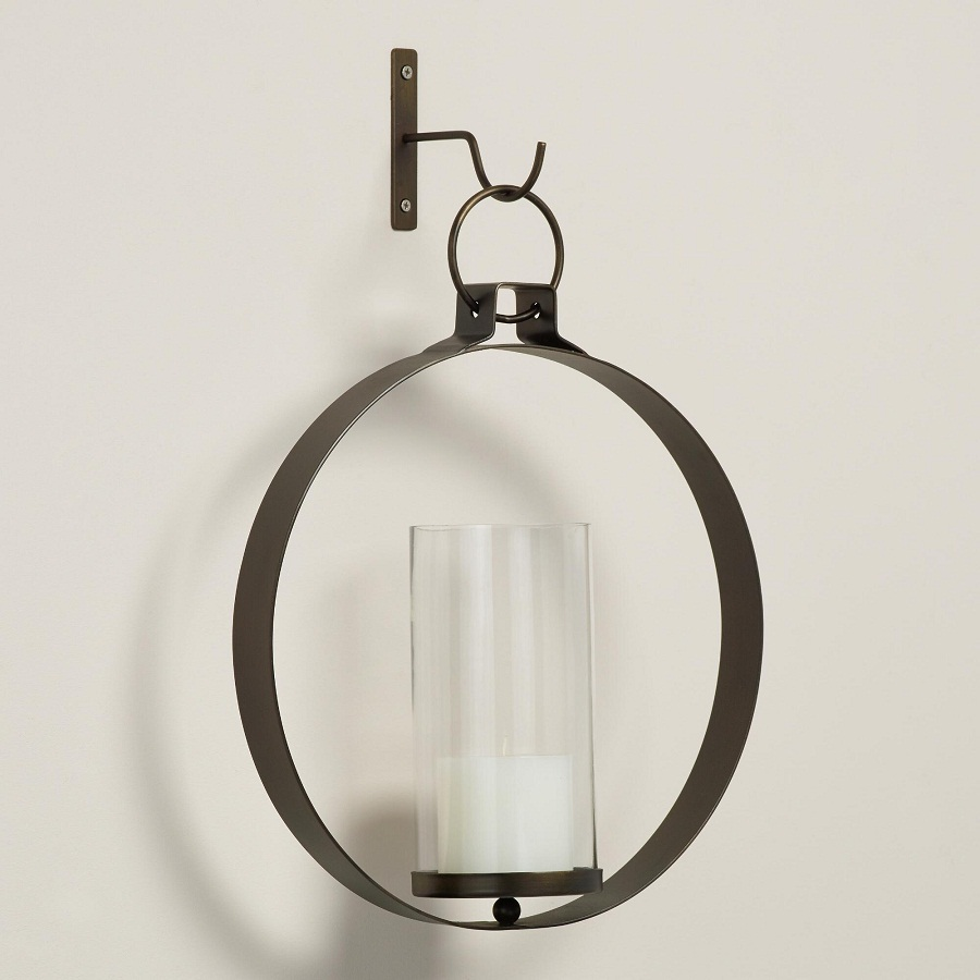 Image of: Candle Holder Sconces Round
