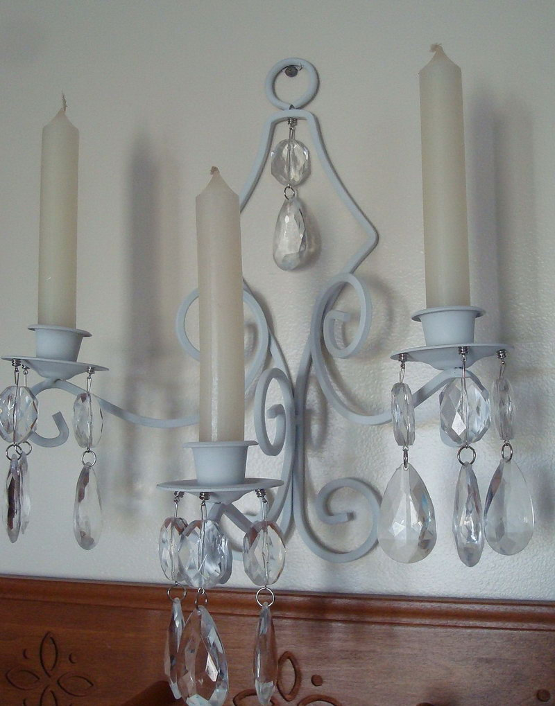 Image of: Candle Holder Sconces White