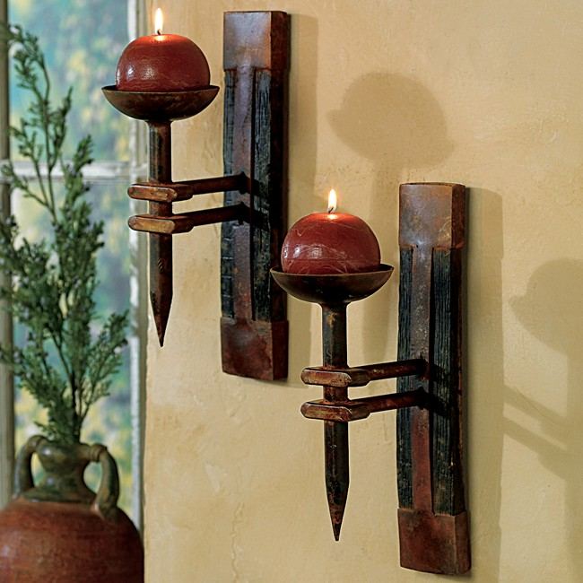 Image of: Candle Sconces Wall Decor