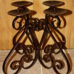 Candle Wall Sconces Wrought Iron Holder