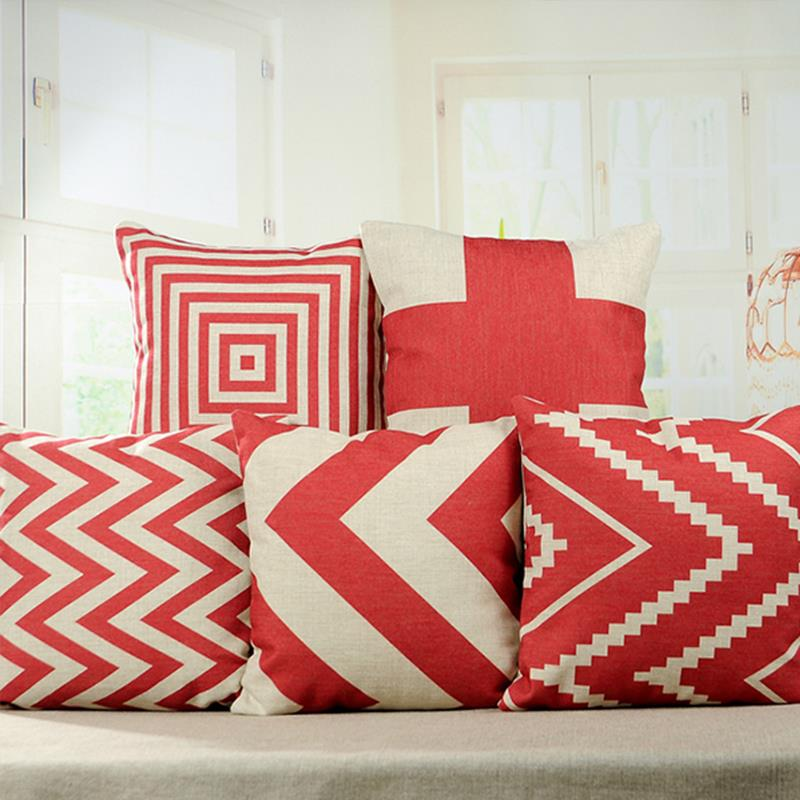 Image of: Cheap Red Decorative Pillows