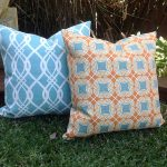 Chevron Turquoise Outdoor Pillows