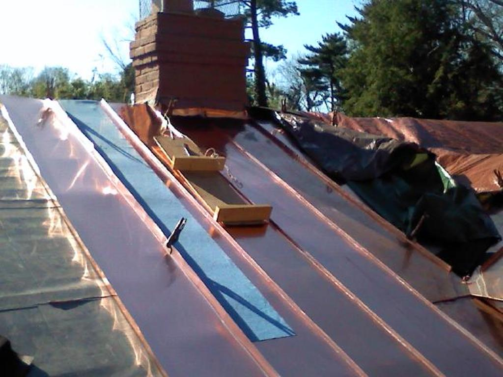 Image of: Cleaning Copper Roof Panels Easily