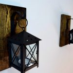 Contemporary Candle Wall Sconces Brass