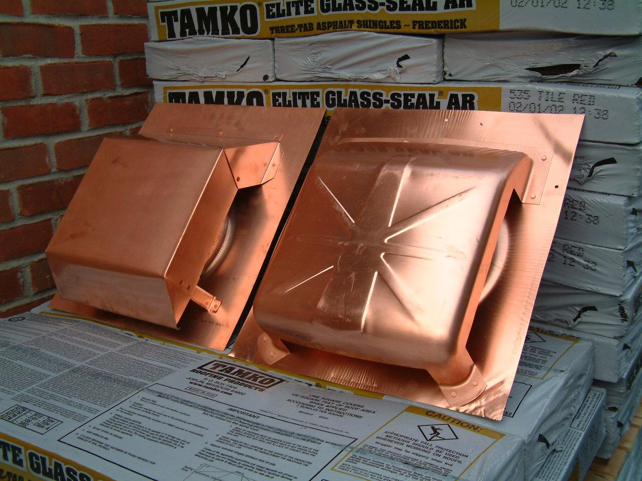 Contemporary Copper Roof Vents