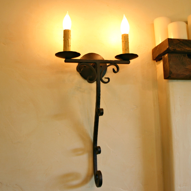 Image of: Cool Candle Wall Sconces Wrought Iron
