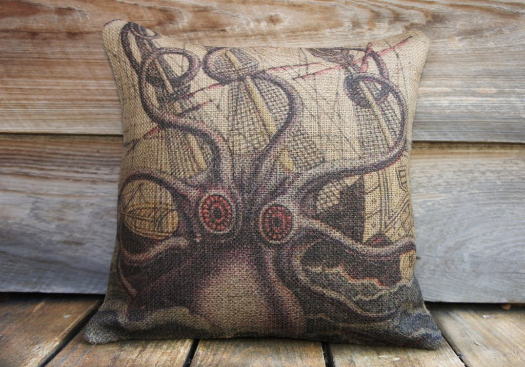 Image of: Cool Octopus Pillow