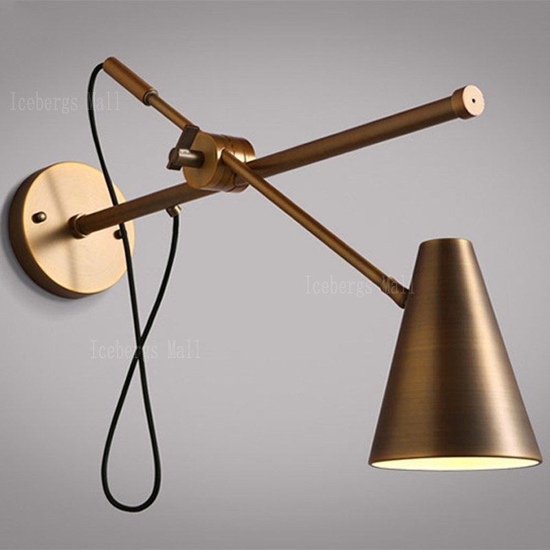 Image of: Copper Industrial Wall Sconce Light
