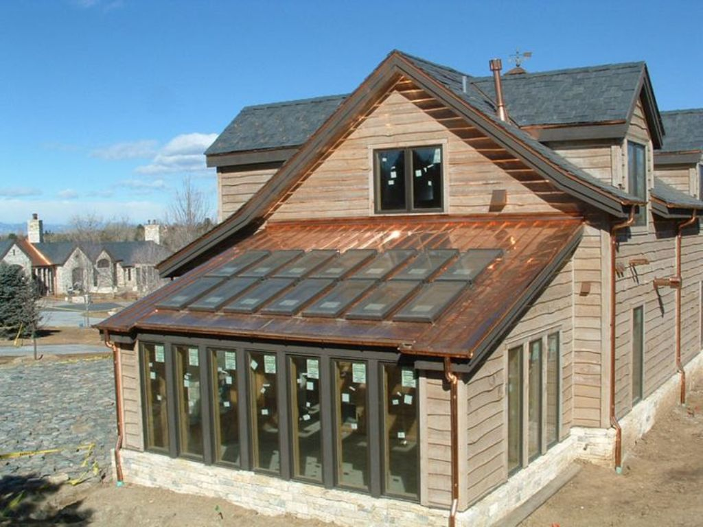 Image of: Copper Roof Panels for Sale