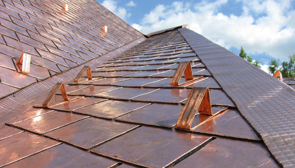 Image of: Copper Roof Shingles Ideas