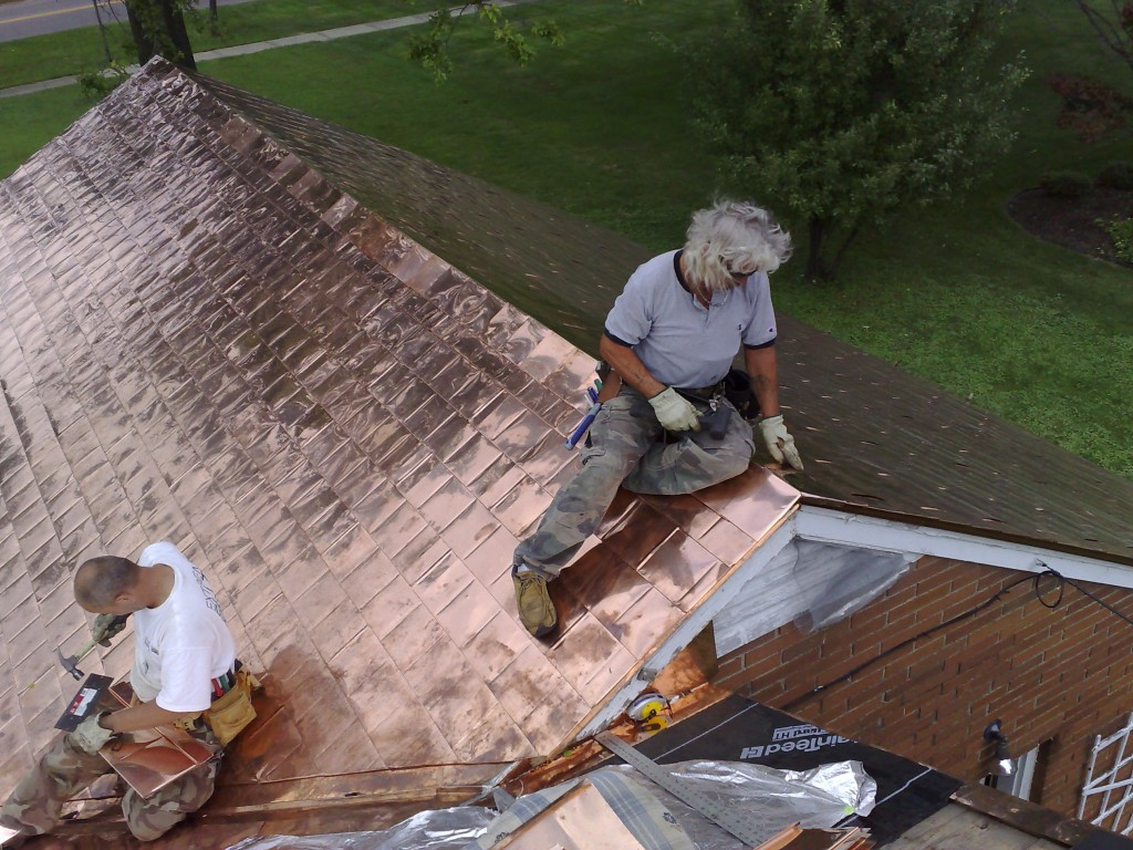 Image of: Copper Roof Shingles Images