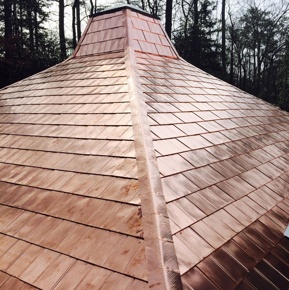 Image of: Copper Roof Shingles