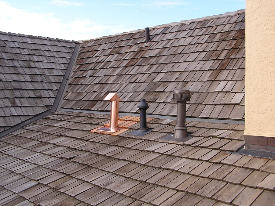 Image of: Copper Roof Vents