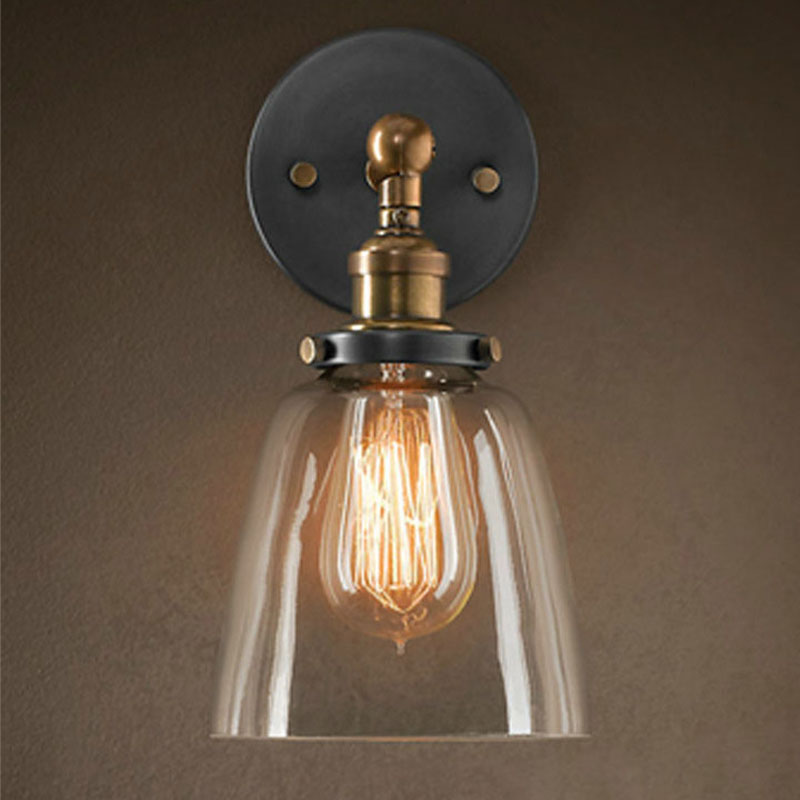 Image of: Copper Sconce Glass