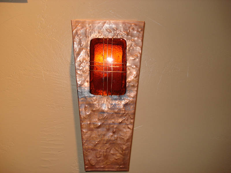 Image of: Copper Sconce Wall