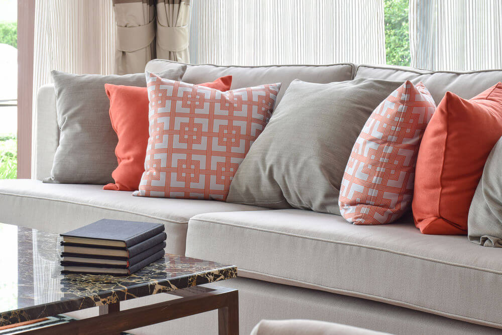 Image of: Coral Throw Pillows for Couch
