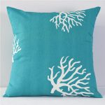 Coral and Turquoise Pillows