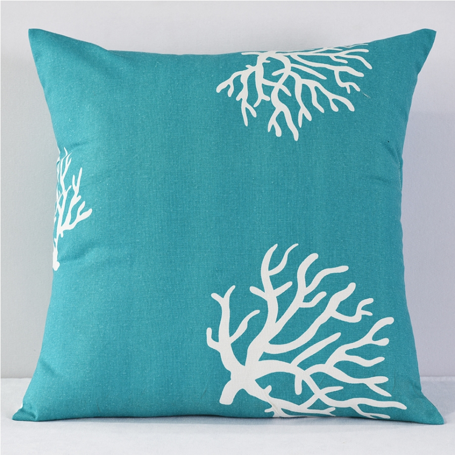 Image of: Coral and Turquoise Pillows