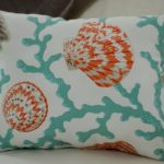 Coral and Turquoise Throw Pillows