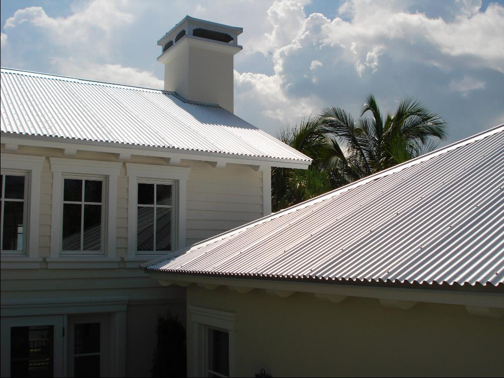 Image of: Corrugated Aluminum Roofing Design