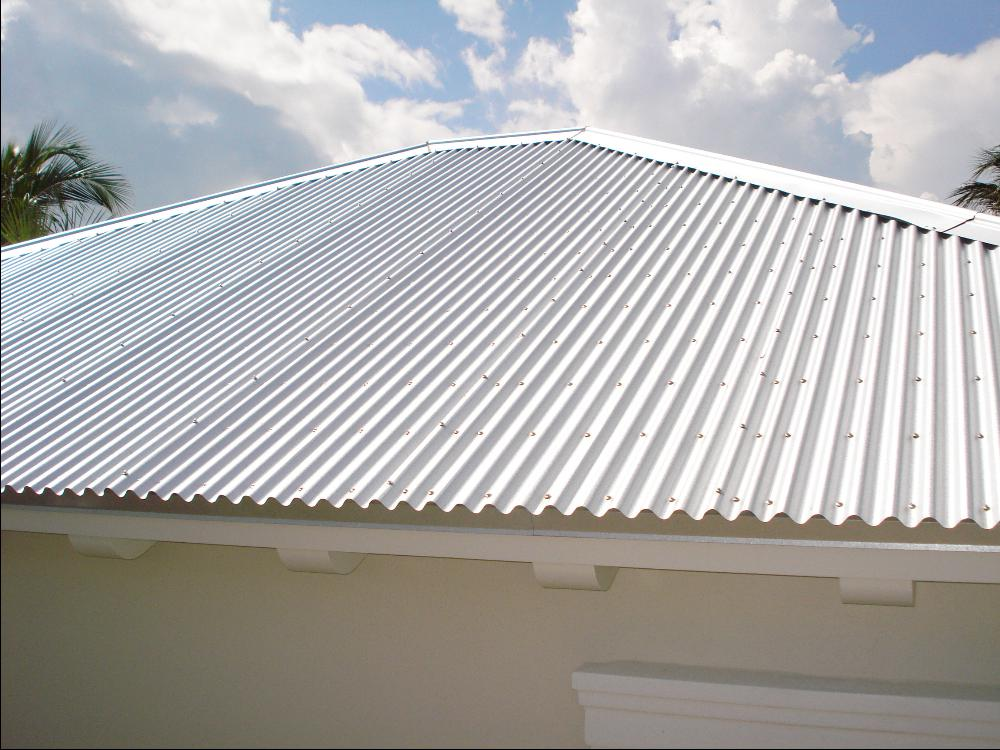 Image of: Corrugated Aluminum Roofing Model
