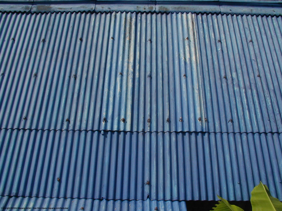 Image of: Corrugated Metal Roof Blue