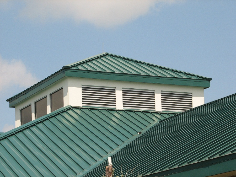 Corrugated Metal Roof Green