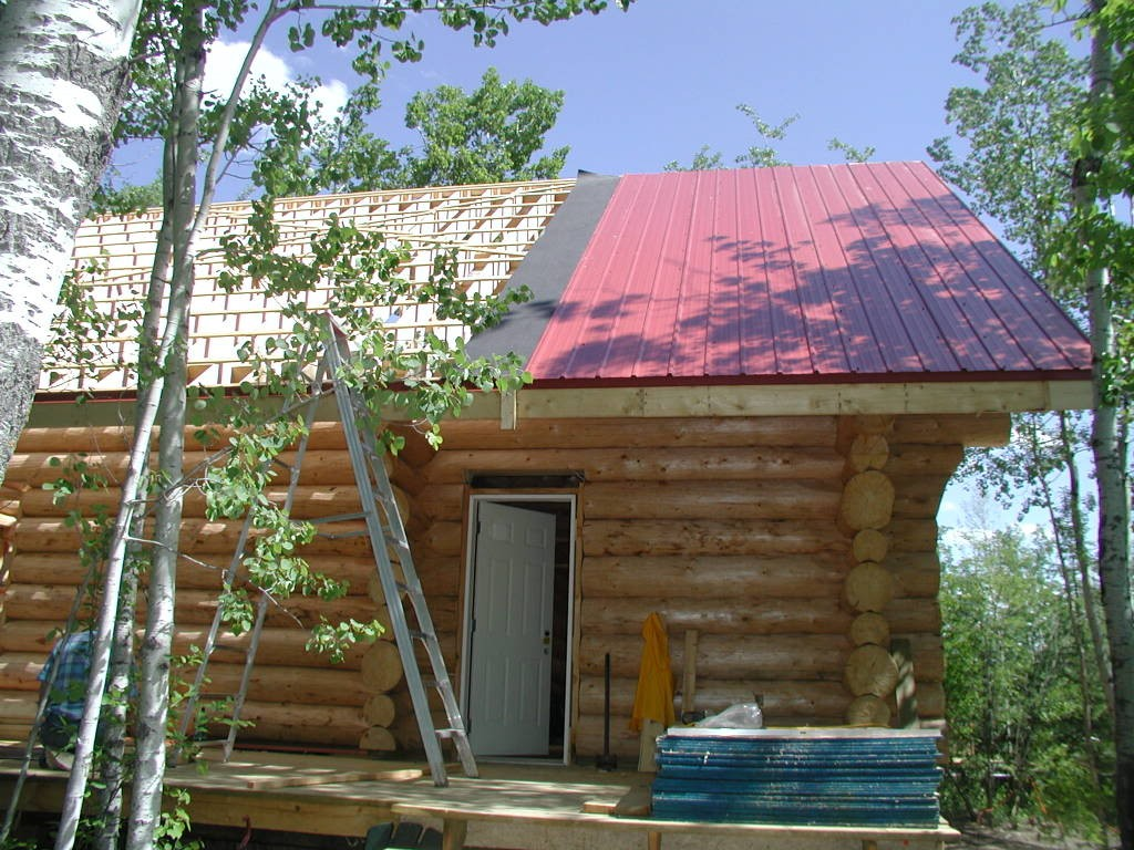 Image of: Corrugated Metal Roof Red