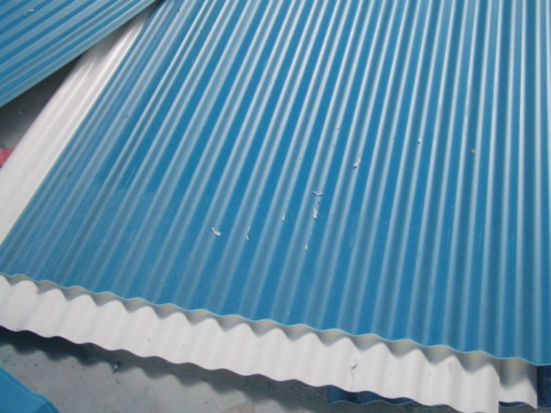 Image of: Corrugated Plastic Roof Blue