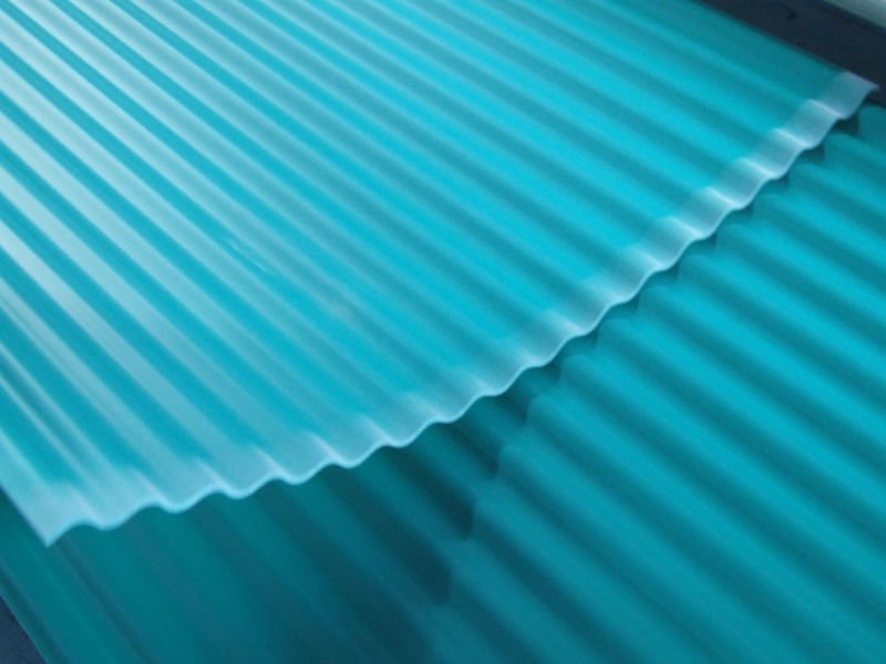 Image of: Corrugated Plastic Roof Colors