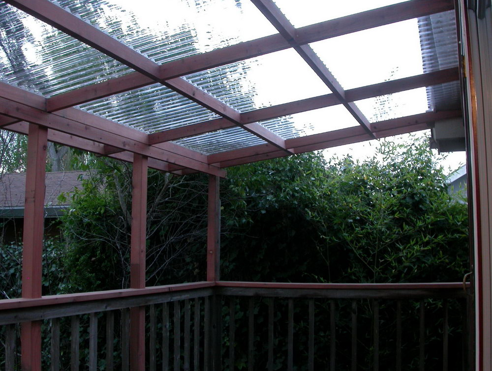 Image of: Corrugated Plastic Roof Pergola