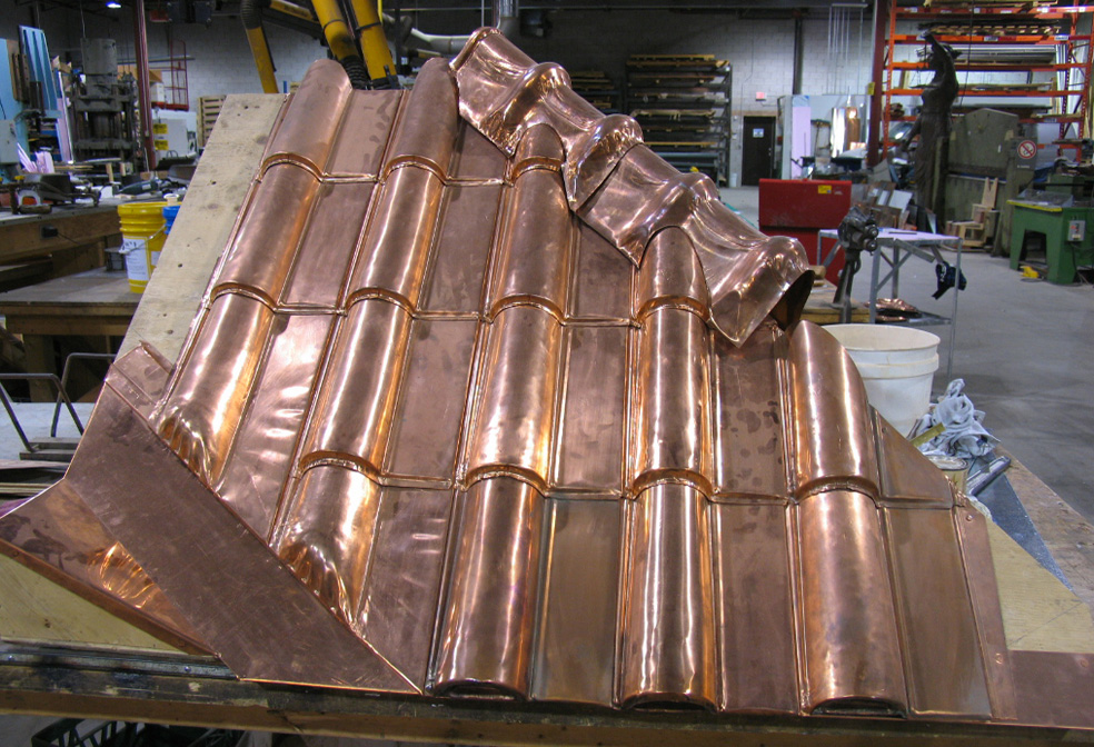 Image of: Create Copper Roofing Sheet Designs Ideas