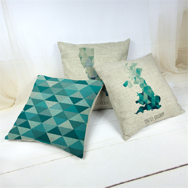 Image of: Cross Mint Green Throw Pillows