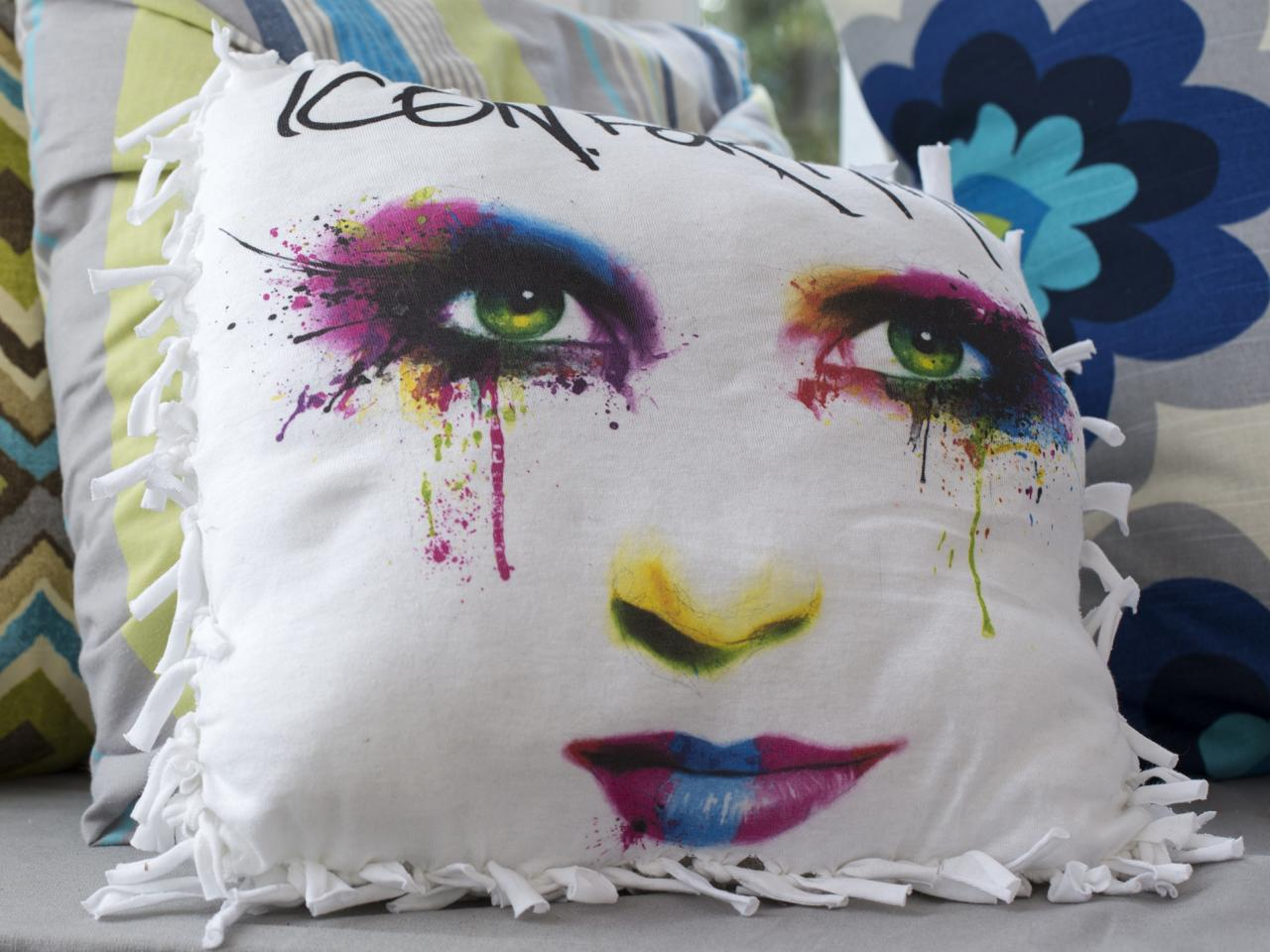Image of: Cute No Sew Pillow Covers