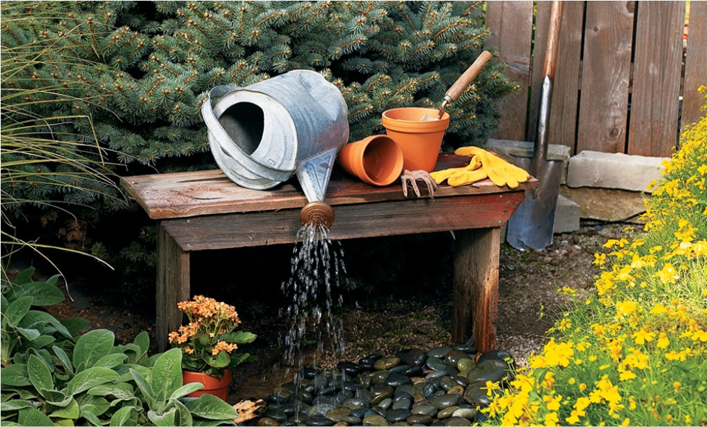 Image of: DIY Outdoor Water Fountain Kits