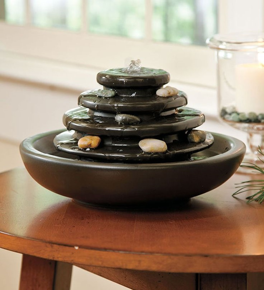 Image of: DIY Tabletop Fountain Decor